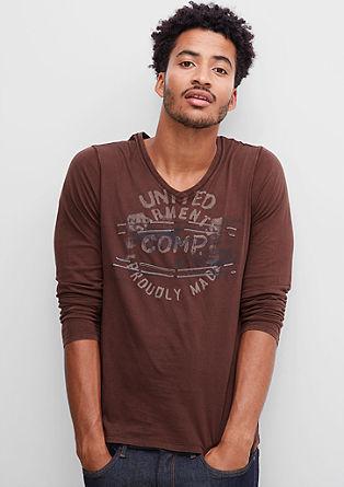 Majica z dolgimi rokavi in retro potiskom