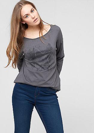 Majica z dolgimi rokavi in zvezdastim potiskom