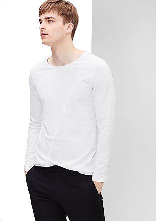 Majica z dolgimi rokavi s poševnim šivom