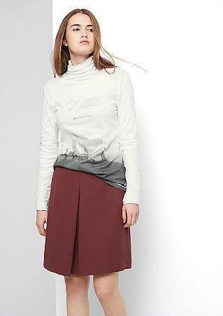 Majica z dolgimi rokavi s potiskom spredaj