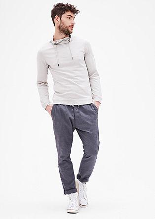 Majica z dolgimi rokavi s šal ovratnikom