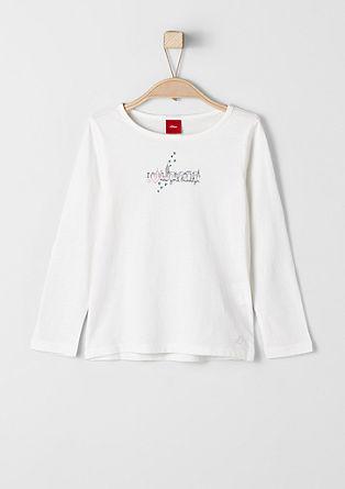 Majica z dolgimi rokavi s svetlečim tiskom Y