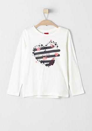 Majica z dolgimi rokavi s tiskom z bleščicami