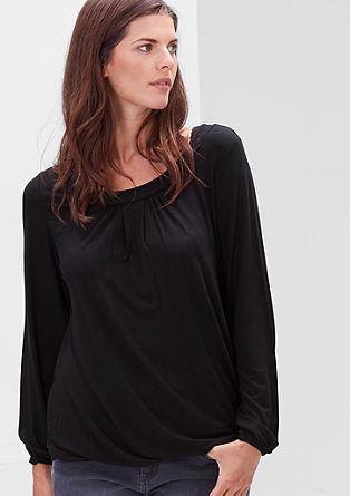 Majica z dolgimi rokavi v obliki črke O
