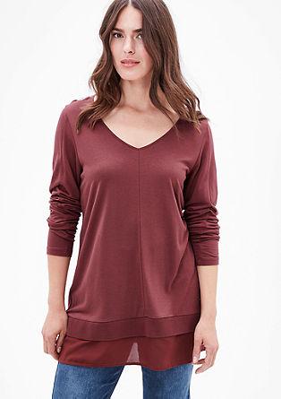 Majica z dolgimi rokavi v večslojnem videzu