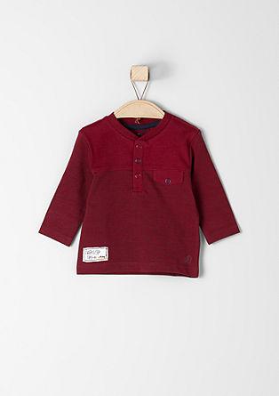 Majica z dolgimi rokavi z gumbi