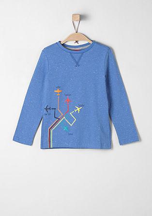 Majica z dolgimi rokavi z gumiranimi letali