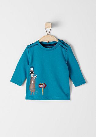 Majica z dolgimi rokavi z ilustracijo živali
