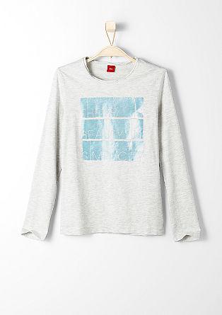 Majica z dolgimi rokavi z lesketajočim tiskom