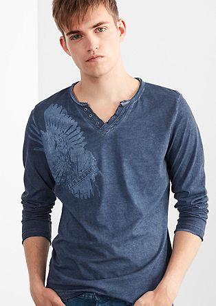 Majica z dolgimi rokavi z vintage potiskom