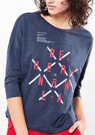 Majica z napisom, spredaj kratka, zadaj dolga