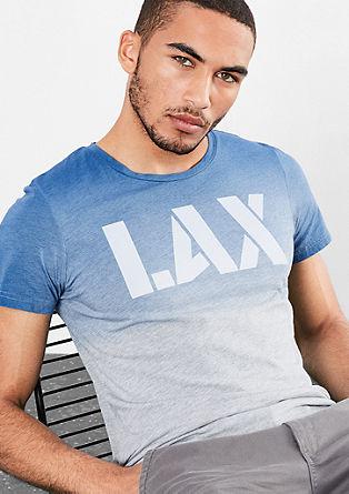 Majica z napisom v videzu Dip Dye