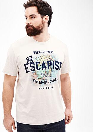 Majica z natisnjenim dopustniškim motivom