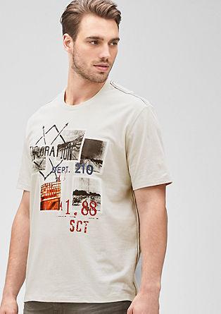 Majica z natisnjenim kolažem