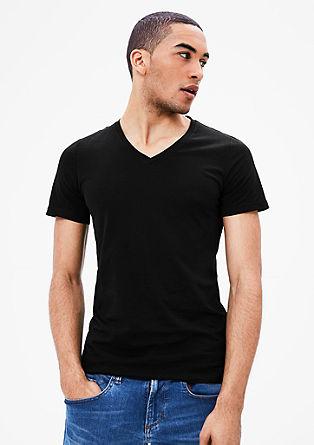 Majica z V-izrezom, 2 kosa