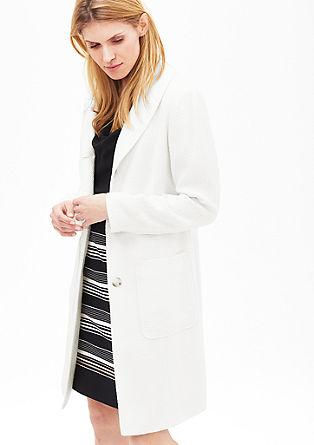 Mantel in blazer look met de structuur van bouclé