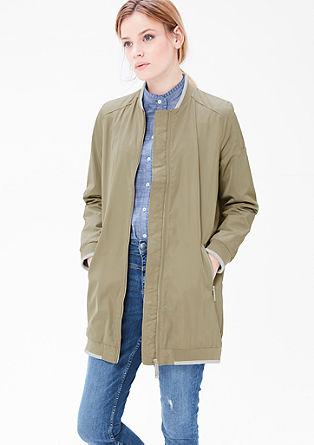 Mantel met de look van een bomberjack