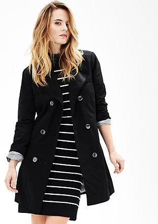 Mantel met een trenchcoat look