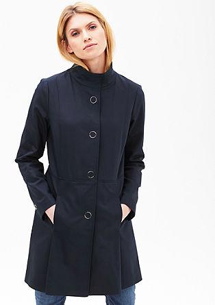 Mantel met stretch en minimalistische look