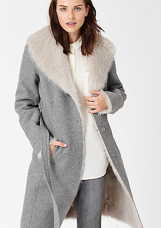 Mantel mit Fake Fur-Innenseite