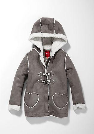 Mantel mit Teddyfell-Optik