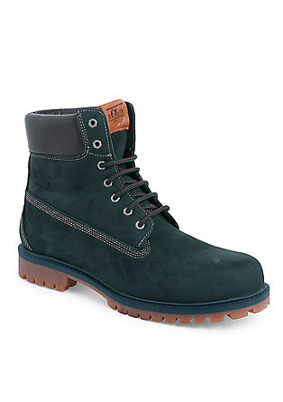 markantni usnjeni škornji z gumijastim podplatom