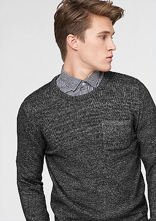 Marl knit jumper from s.Oliver