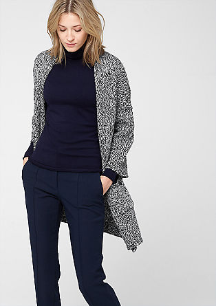 Marled cardigan with 3/4-length sleeves from s.Oliver