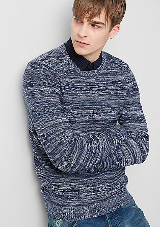 Marled fine knit jumper from s.Oliver