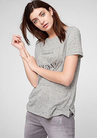 Marled statement T-shirt from s.Oliver