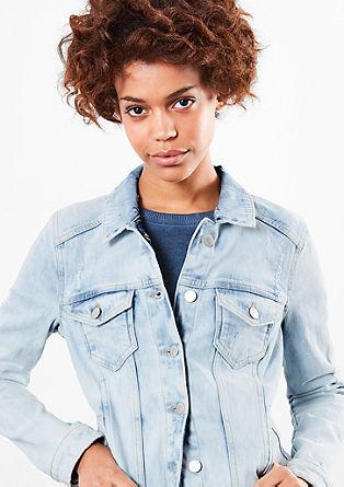 Marogasto obarvana jeans jakna