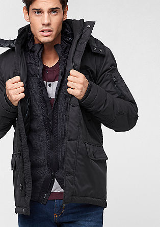Masculine cotton parka from s.Oliver
