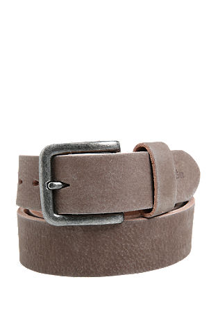 Masculine leather belt with a vintage finish from s.Oliver