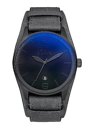 Mat herenhorloge in het zwart