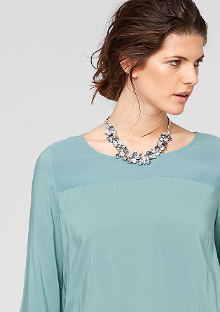 Material mix blouse from s.Oliver