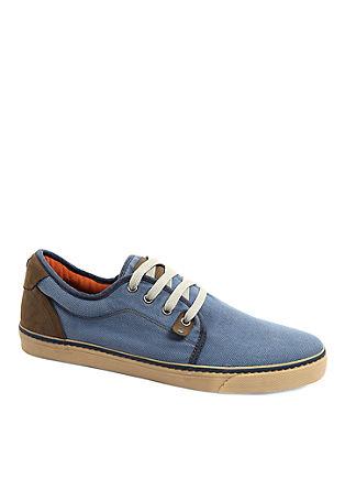 Materialmix-Sneaker im Vintage-Look
