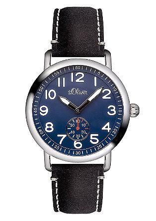 Materialmix-Uhr mit kleiner Sekunde