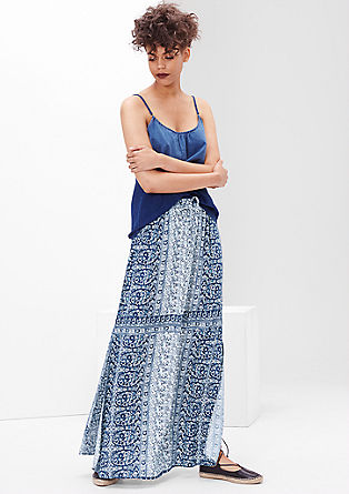 Maxi skirt with filigree pattern from s.Oliver
