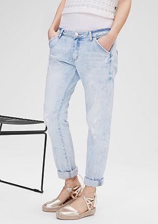 Megan: ležerne jeans hlače v ponošenem videzu