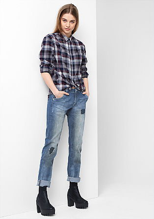Megan: relaxte used jeans