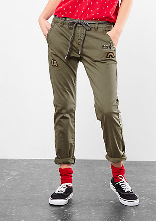 Megan Girlfriend: Trousers with patches from s.Oliver