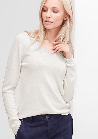 Mehek pulover iz volnene mešanice