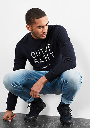 Mehek sweatshirt pulover z napisom