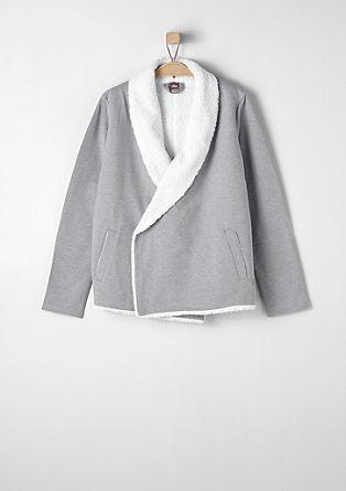Mehka jakna s plišasti podlogo