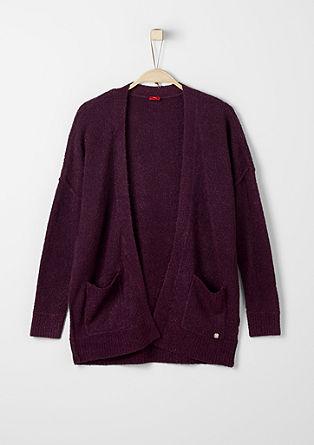 Mehka pletena jakna iz efektne preje