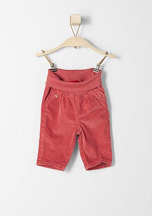 Mehke hlače iz rebrastega žameta