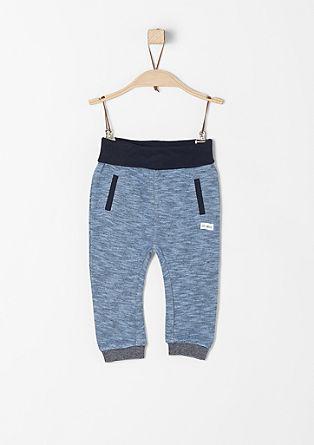 Mehke hlače s široko obrobo v pasu