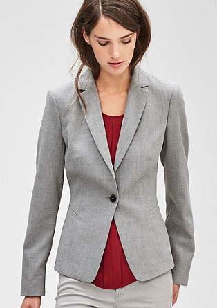 Melange blazer with one button from s.Oliver