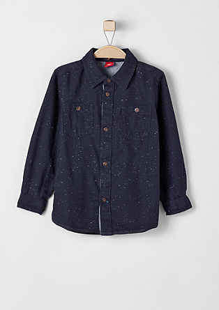 Melange cotton shirt from s.Oliver
