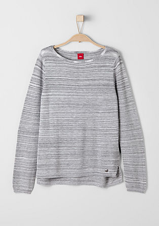 Melange fine knit jumper from s.Oliver